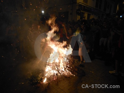 Flame javea building fiesta fire.