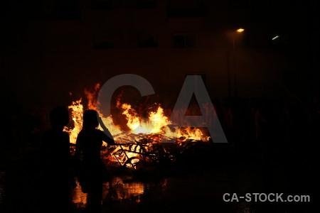 Flame javea fire black spain.