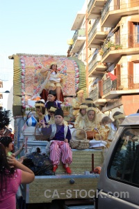 Float person javea building fiesta.