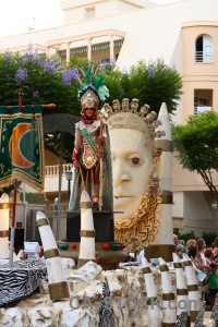Float person moors javea costume.