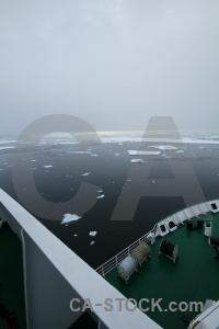 Fog crystal sound ship adelaide island south pole.