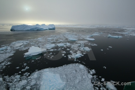 Fog snow antarctica sea ice.