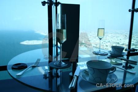 Fork cup dubai table sea.