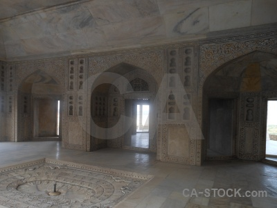 Fort agra marble archway mughal.