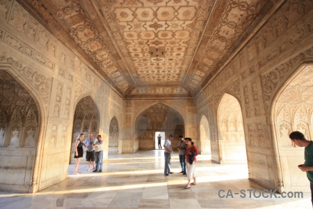 Fort building roof jahangir marble.