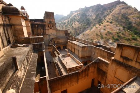 Fort palace amer jaipur building.