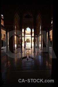 Fortress alhambra palace arch la de granada.