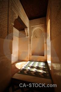 Fortress building orange interior alhambra.