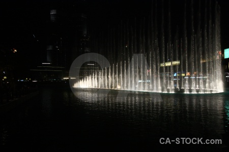 Fountain water dubai pool western asia.