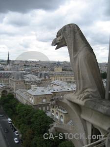 France statue europe notre dame gargoyle.