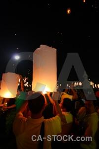 Full moon festival bangkok asia light thailand.
