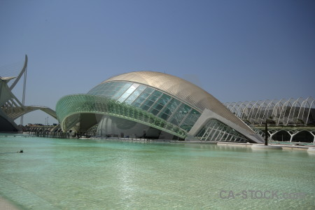 Futuristic science modern valencia pool.