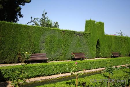 Garden fortress granada alhambra la de.