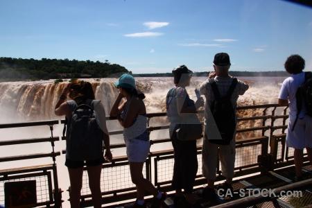 Garganta del diablo person argentina iguazu falls water.