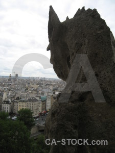 Gargoyle france notre dame europe paris.