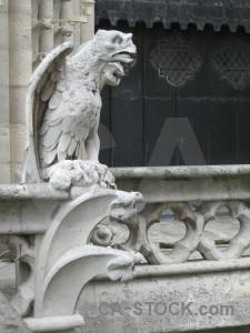 Gargoyle france statue notre dame europe.