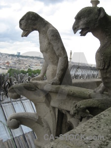 Gargoyle paris france europe statue.