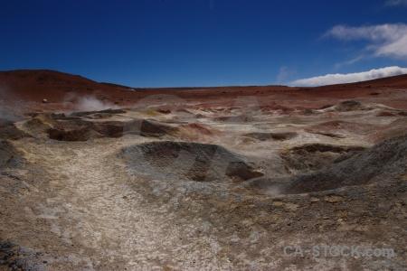 Geiser sol de manana landscape rock mountain geyser.