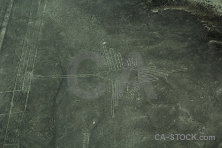 Geoglyph aerial peru unesco flying.