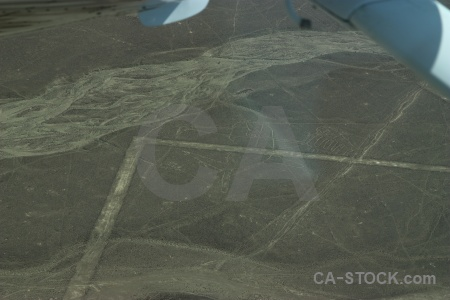 Geoglyph unesco peru nazca flying.