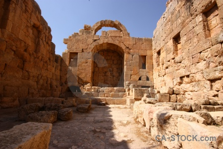 Gerasa roman archway archaeological jordan.