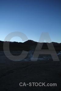 Geyser andes mountain landscape sky.