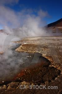 Geyser andes rock mountain steam.