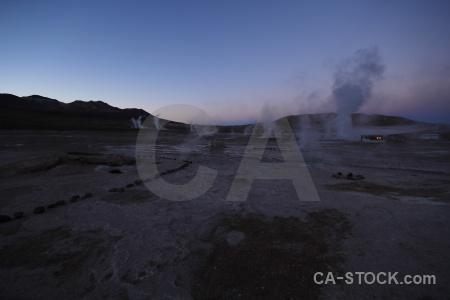 Geyser sky steam atacama desert andes.