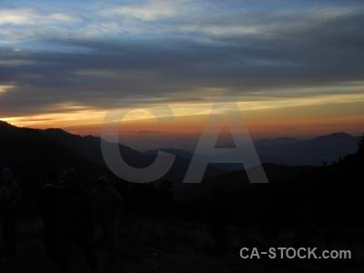 Ghoreapani sunset himalayan asia annapurna sanctuary trek.