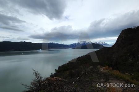 Glacier grey terminus glacier lago trek.