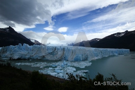 Glacier lake sky argentina argentino.