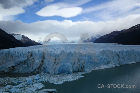 Glacier patagonia ice lake argentina.