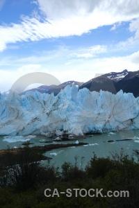 Glacier patagonia ice terminus cloud.