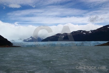 Glacier patagonia lake argentino ice water.