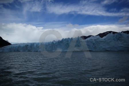 Glacier sky mountain lake lago argentino.