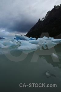 Glacier trek cloud landscape lake grey.