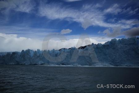 Glacier water ice perito moreno lake argentino.