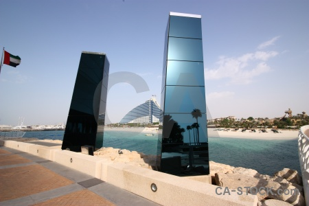 Glass sea dubai middle east building.