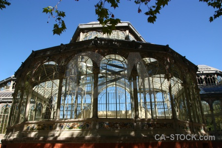 Glass spain madrid parque del retiro crystal palace.