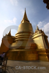 Gold asia grand palace temple of the emerald buddha southeast.