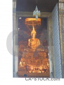 Gold ornate statue buddhism buddhist.