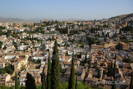 Granada above europe view spain.