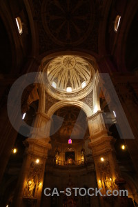 Granada black cathedral brown spain.
