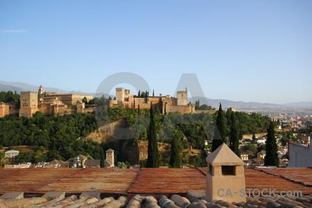 Granada europe alhambra spain building.