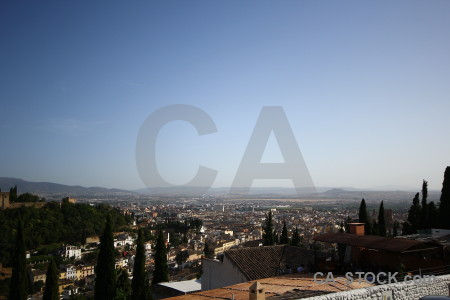Granada europe building blue spain.