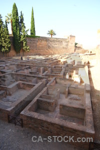 Granada europe labyrinth historic fortress.