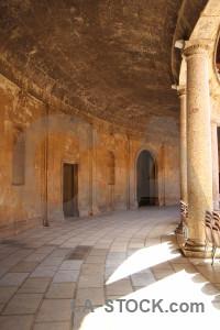 Granada interior alhambra path palace.
