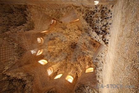 Granada interior brown building ceiling.