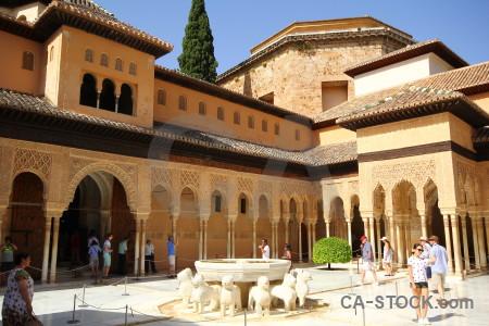 Granada la alhambra de granada orange arch building.
