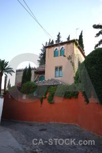 Granada red building europe spain.